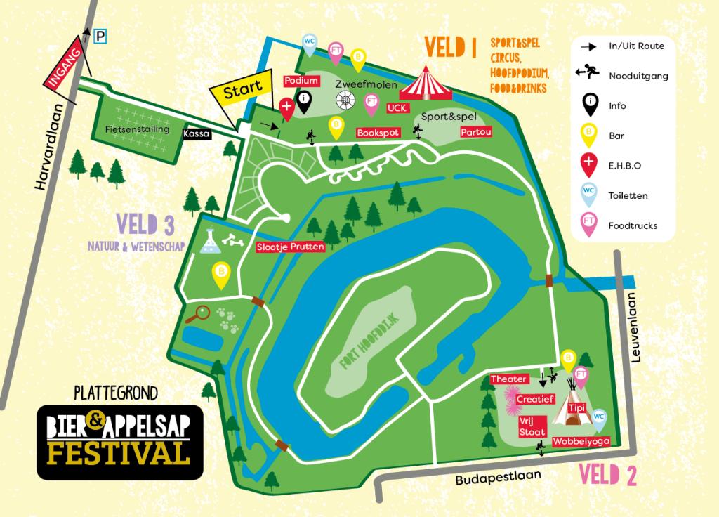 plattegrond bier en appelsap festival hemelvaart botanische tuinen utrecht